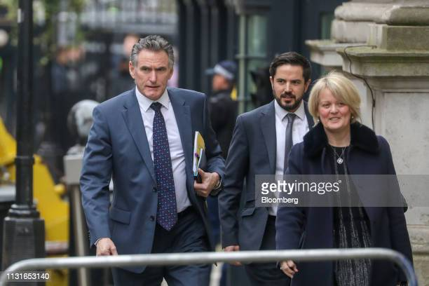 Ross McEwan chief executive officer of the Royal Bank of Scotland Group Plc left and Alison Rose deputy chief executive officer of Natwest Holdings...