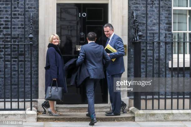 Ross McEwan chief executive officer of the Royal Bank of Scotland Group Plc right and Alison Rose deputy chief executive officer of Natwest Holdings...