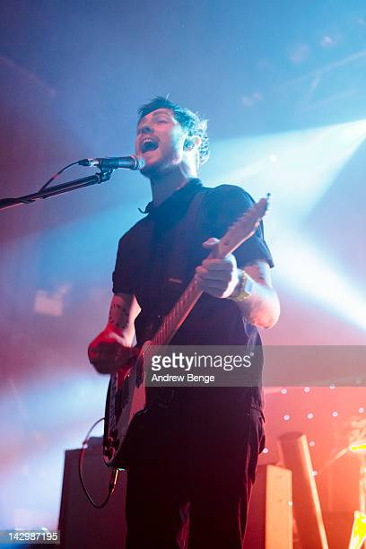 Ross McNae of Twin Atlantic performs on stage at HMV Ritz on April 16, 2012 in Manchester, United Kingdom.