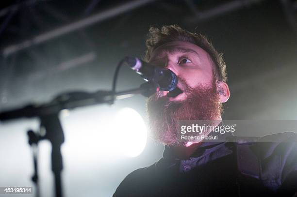 Ross McNae of Twin Atlantic performs on stage at The Liquid Room on August 11, 2014 in Edinburgh, United Kingdom.