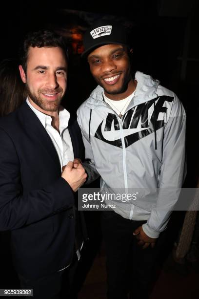 Ross Michaels and Saint Harraway attend Yebba's Birthday Party at Jimmy At The James Hotel on January 16 2018 in New York City