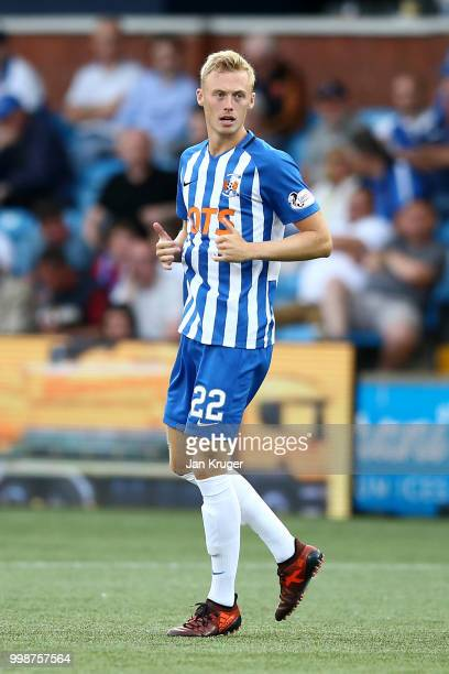 Ross Millen of Kilmarnock FC during the Betfred Scottish League Cup match between Kilmarnock and St Mirren at Rugby Park on July 13 2018 in...
