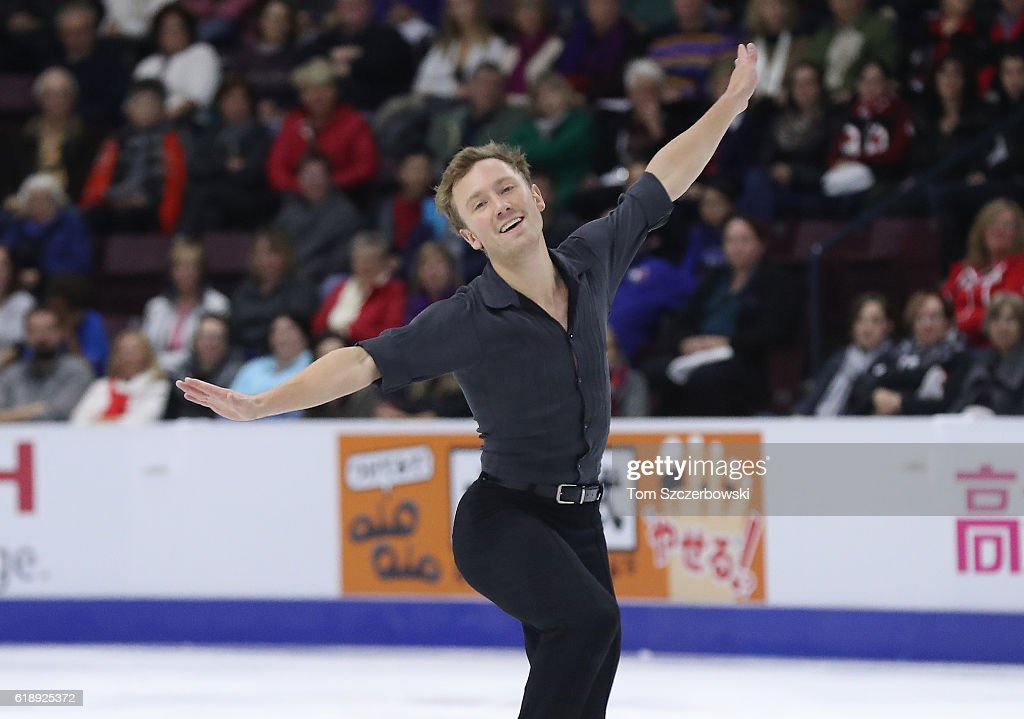 Ross Miner of the United States competes in the Men's Singles Short Program during day one of the 2016 Skate Canada International at Hershey Centre on October 28, 2016 in Mississauga, Canada.