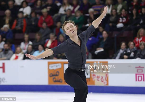 Ross Miner of the United States competes in the Men's Singles Short Program during day one of the 2016 Skate Canada International at Hershey Centre...