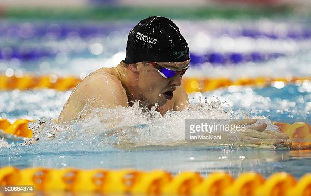 Ross Murdoch competes in the Men's 200M Breaststroke final during Day One of The British Swimming Championships at Tollcross International Swimming...