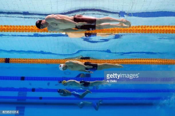 Ross Murdoch of Great Britain Haiyang Qin of China Matthew Wilson of Australia Yasuhiro Koseki of Japan and Yannick Kaser of Switzerland compete...
