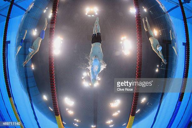 Ross Murdoch of University of Stirling starts the Men's 200m Breaststroke Final on day one of the British Swimming Championships at Aquatics Centre...