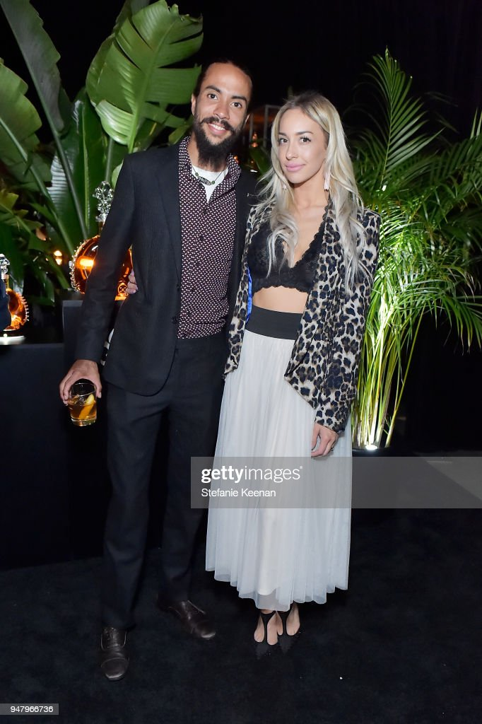 Ross Naess (L) and Kim Naess attend LOUIS XIII Cognac Presents '100 Years' - The Song We'll Only Hear #IfWeCare - by Pharrell Williams at Goya Studios on April 17, 2018 in Los Angeles, California.