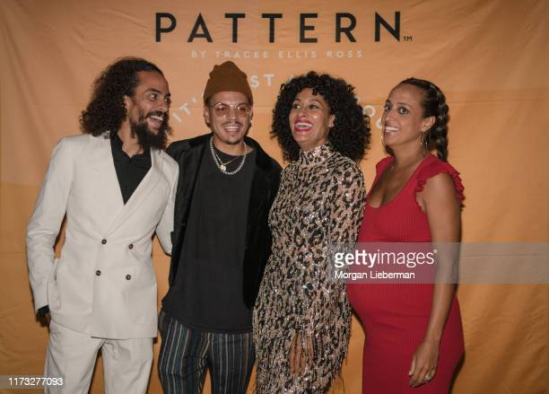 Ross Naess Evan Ross Trace Ellis Ross and Chudney Ross at the launch of Tracee Ellis Ross' Pattern Beauty on September 08 2019 in Los Angeles...