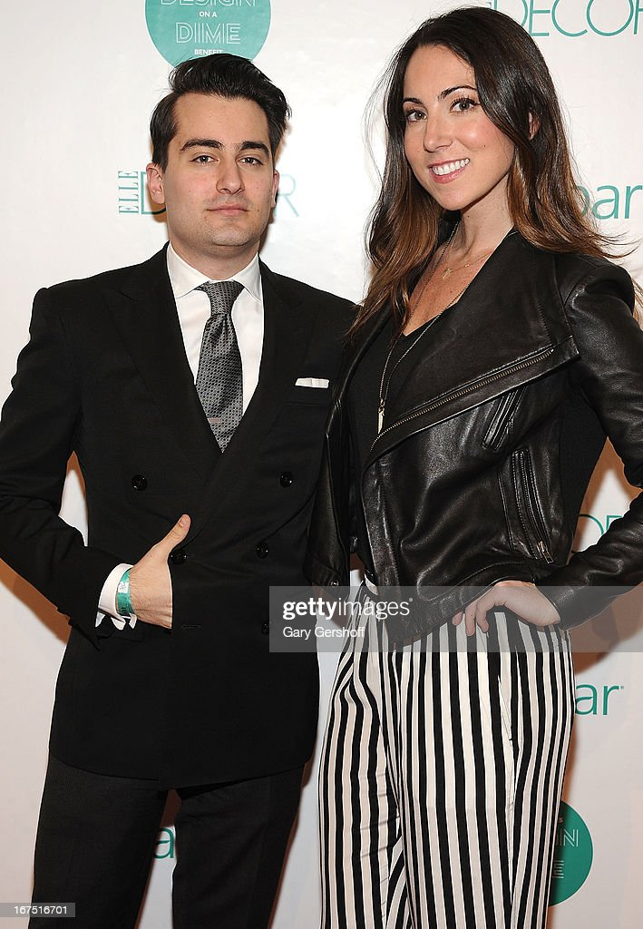 Ross Nicholls of Sachs (L) and Catherine Carella of Ralph Lauren attend Housing Works 9th Annual Design On A Dime Benefit at Metropolitan Pavilion on April 25, 2013 in New York City.