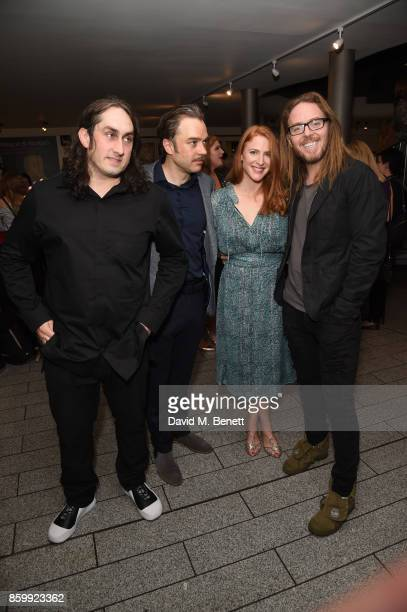 """Ross Noble, Hadley Fraser, Rachel Francis and Tim Minchin attend the press night performance of """"Mel Brooks' Young Frankenstein"""" at The Garrick..."""