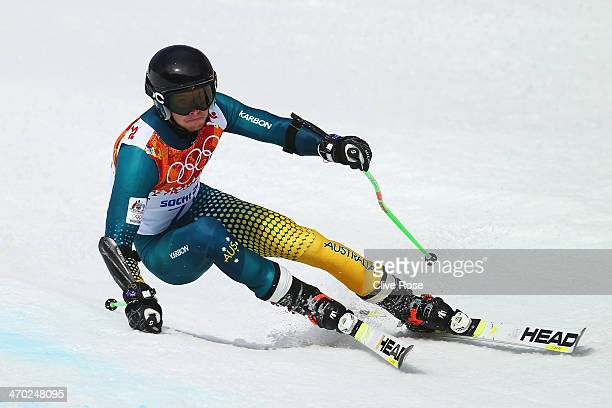 Ross Peraudo of Australia in action during the Alpine Skiing Men's Giant Slalom on day 12 of the Sochi 2014 Winter Olympics at Rosa Khutor Alpine...