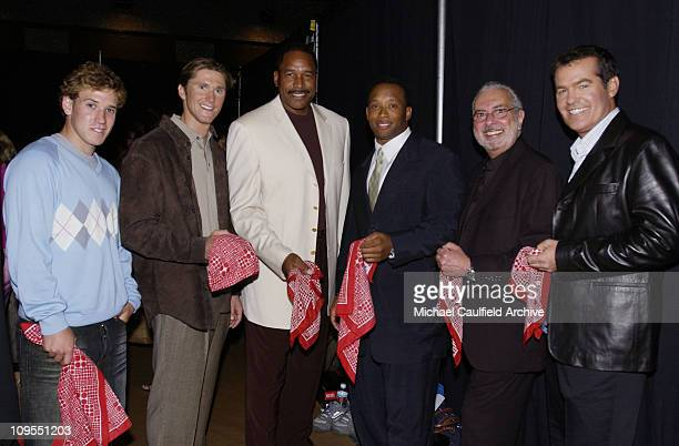 Ross Powers Lenny Krayzelburg Dave Winfield Jamal Anderson Art Cooper and Bob Goen