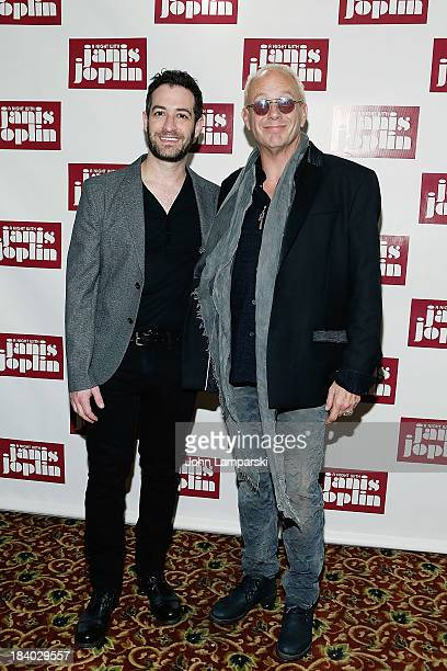 Ross Seligman and Director Randy johnson attend the opening night A Night With Janis Joplin Broadway production at Lyceum Theatre on October 10 2013...