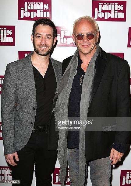 Ross Seligman and Randy Johnson attends A Night With Janis Joplin Broadway opening night after party at Buca di Beppo on October 10 2013 in New York...
