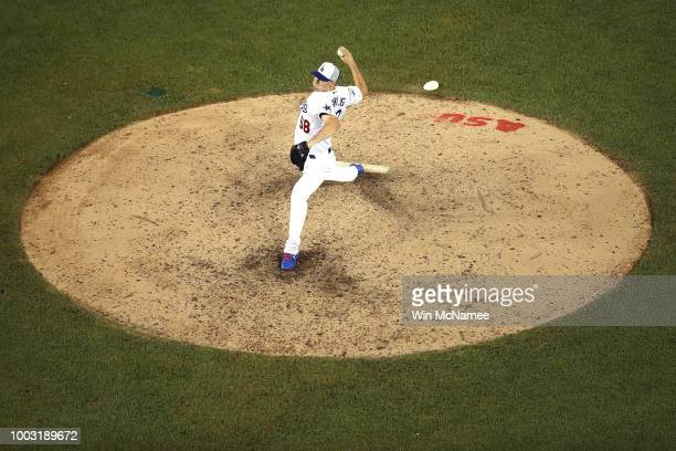 Ross Stripling of the Los Angeles Dodgers and the National League pitches during the 89th MLB AllStar Game presented by Mastercard at Nationals Park...