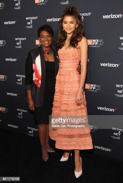 Ross Stuckey Kirk and Zendaya attend the special screening of 'Without A Net' during the 55th New York Film Festival at The Film Society of Lincoln...