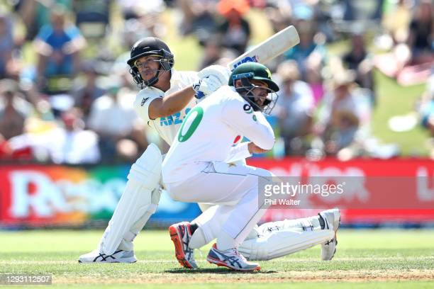 Ross Taylor of New Zealand bats during day one of the First Test match in the series between New Zealand and Pakistan at Bay Oval on December 26,...
