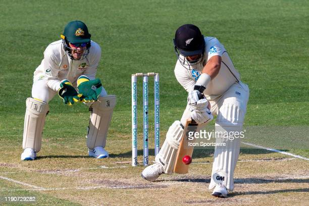 Ross Taylor of New Zealand bats during day two of the Second Test match in the series between Australia and New Zealand at The Melbourne Cricket...