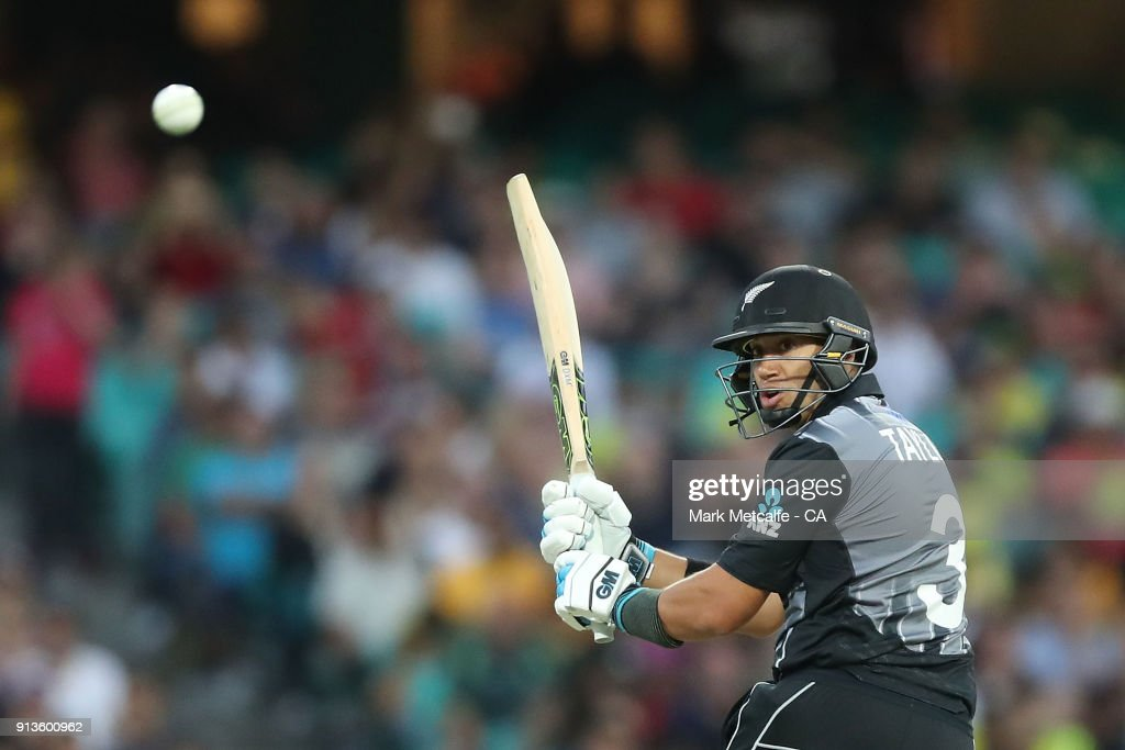 Ross Taylor of New Zealand bats during game one of the International Twenty20 series between Australia and New Zealand at Sydney Cricket Ground on February 3, 2018 in Sydney, Australia.