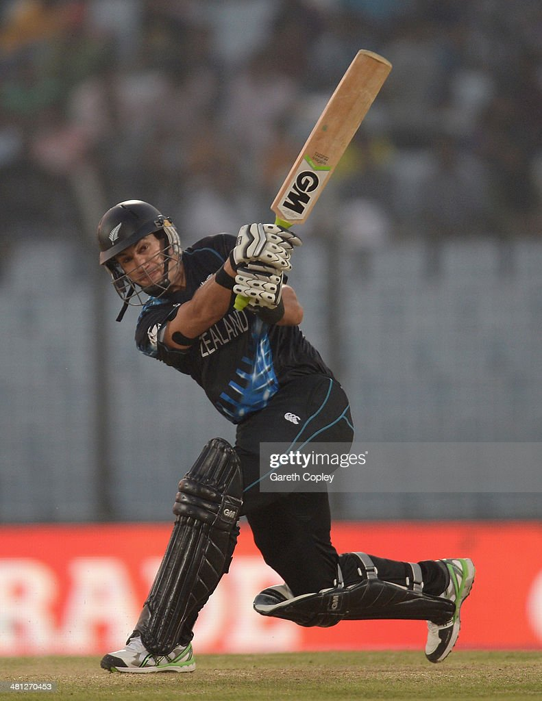 Ross Taylor of New Zealand bats during the ICC World Twenty20 Bangladesh 2014 Group 1 match between New Zealand and the Netherlands at Zahur Ahmed Chowdhury Stadium on March 29, 2014 in Chittagong, Bangladesh.