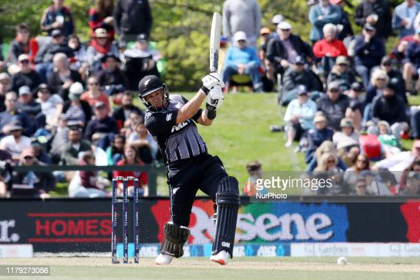 Ross Taylor of New Zealand bats during the first T20 International match between England and New Zealand at Hagley Oval in Christchurch New Zealand...