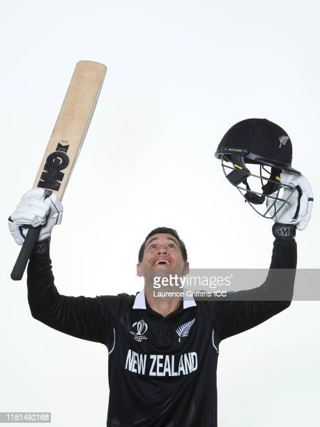 Ross Taylor of New Zealand poses for a portrait prior to the ICC Cricket World Cup 2019 at the Marriott County Hall on May 24 2019 in London England