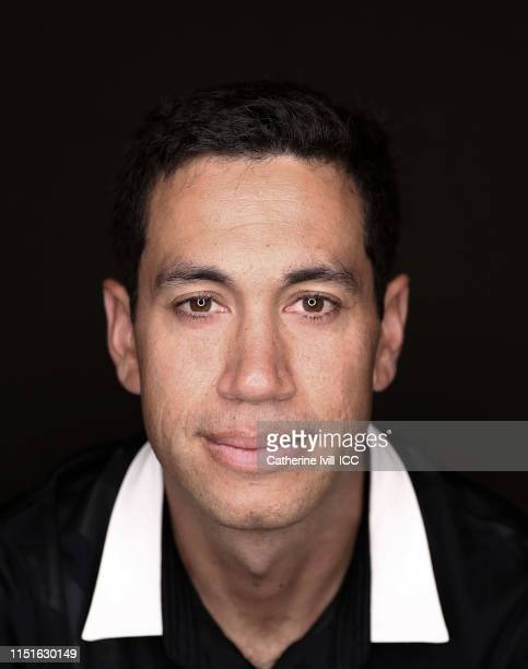 Ross Taylor of New Zealand poses for a portrait prior to the ICC Cricket World Cup 2019 at the Marriott County Hall Hotel on May 24 2019 in London...