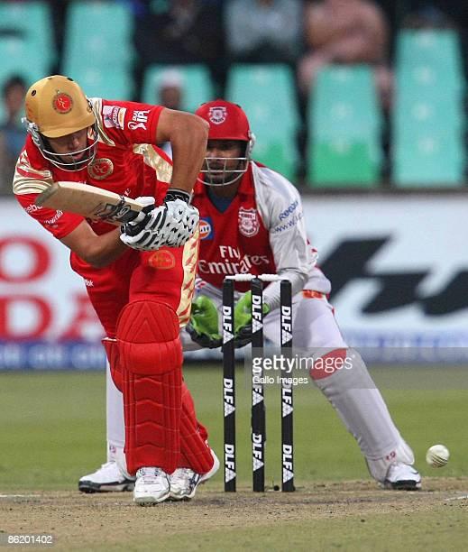 Ross Taylor plays away during IPL T20 match between Royal Challengers Bangalore and Kings XI Punjab at SaharaStadium on April 24 2009 in Durban South...