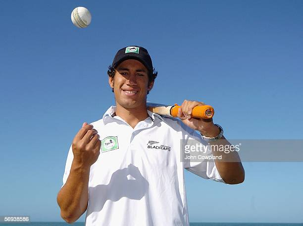 Ross Taylor poses after at a press conference after being called up to the New Zealand Black Caps squad for the third one day international between...
