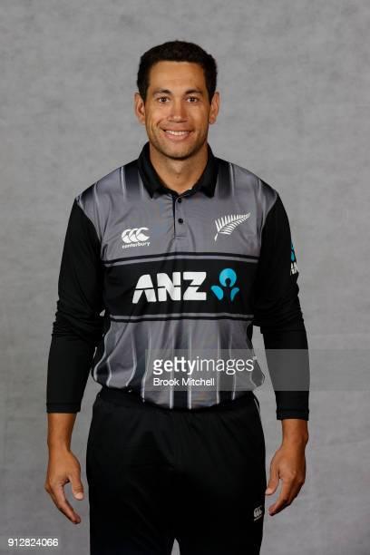 Ross Taylor poses during the New Zealand International Twenty20 headshots session at Sydney Cricket Ground on February 1 2018 in Sydney Australia