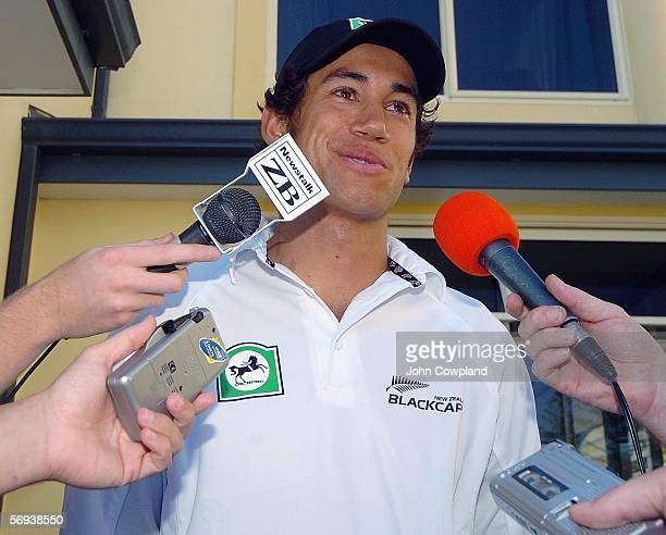 Ross Taylor speaks to the media at a press conference after being called up to the New Zealand Black Caps squad for the third one day international...