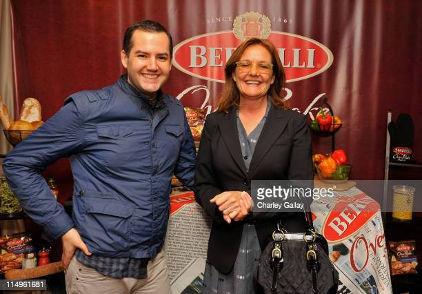 """Ross """"The Intern"""" Mathews and actress Nancy Lenehan attends the Bertolli Oven Bake Meals at the Access Hollywood """"Stuff You Must..."""" Lounge produced..."""