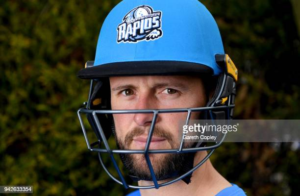 Ross Whiteley of Worcestershire poses for a portrait during the Worcestershire CCC Photocall at New Road on April 6 2018 in Worcester England