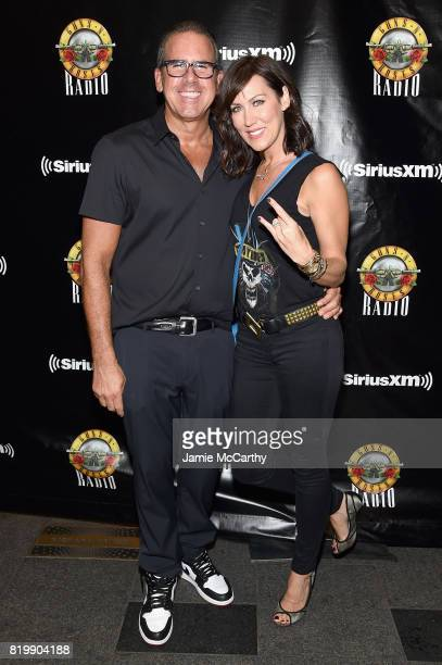 Ross Zapin and Melissa Zapin attend the SiriusXM's Private Show with Guns N' Roses at The Apollo Theater before band embarks on next leg of its North...