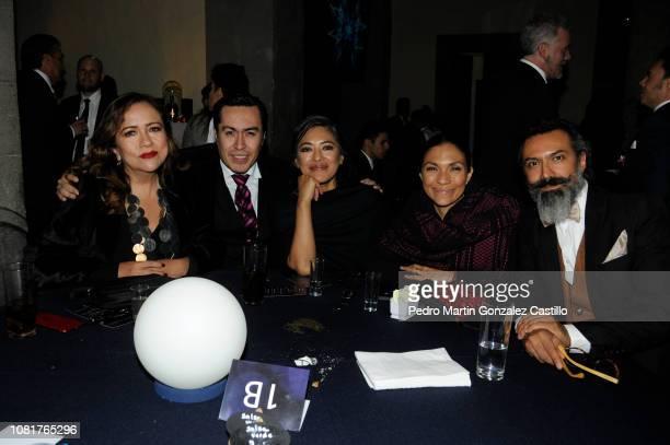 "Rossana Barro of Morelia Film Festival Jorge Magaña director of Shorts Films México Ángeles Cruz actress of ""Tamara y la Catarina"" and actor and host..."