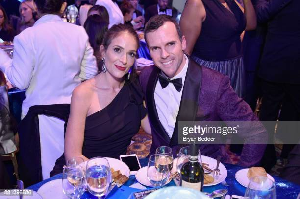 Rossana Eh Bee and Andres Eh Bee attend 13th Annual UNICEF Snowflake Ball 2017 at Cipriani Wall Street on November 28 2017 in New York City