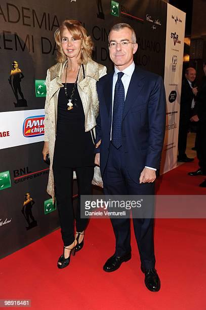 Rossana Letta and Giampaolo Letta attend the 'David Di Donatello' movie awards at the Auditorium Conciliazione on May 7 2010 in Rome Italy