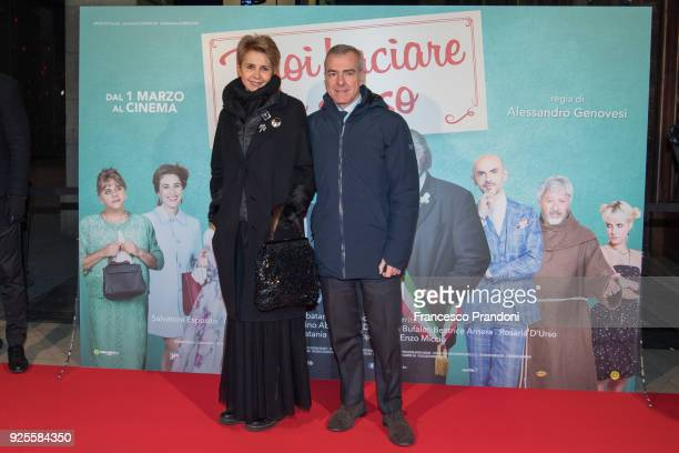 Rossana Ridolfi and Giampaolo Letta attend a photocall for 'Puoi Baciare Lo Sposo' on February 28 2018 in Milan Italy