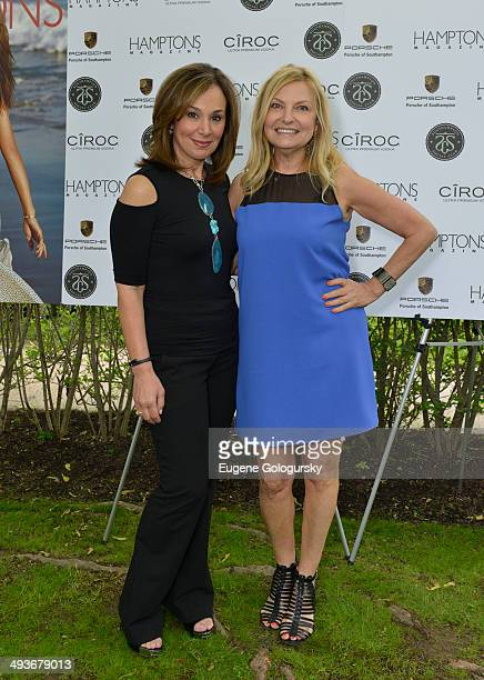 Rossana Scotto and Debra Halpert attend the Hamptons Magazine Celebration of Memorial Day Cover Star Heidi Klum on May 24 2014 in Southampton New York