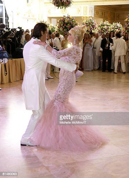 RATES Rossano Rubicondi and Ivana Trump dance at their wedding reception at the MaraLago Club on April 12 2008 in Palm Beach Florida Ivana Trumps...