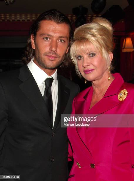 "Rossano Rubicondi and Ivana Trump during New York Launch of ""Ivana Trump Las Vegas"" Tower - Inside Arrivals at Club FIZZ in New York City, New York,..."
