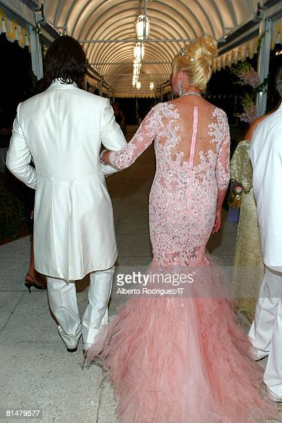 RATES Rossano Rubicondi and Ivana Trump during the reception for the wedding of Ivana Trump and Rossano Rubicondi at the MaraLago Club on April 12...