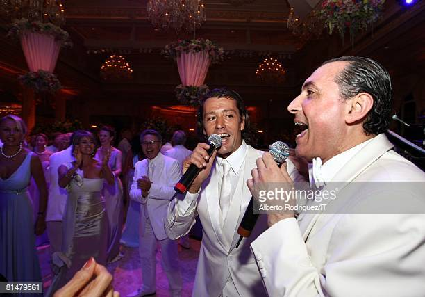 Rossano Rubicondi and musician Samy Goz during the wedding reception of Ivana Trump and Rossano Rubicondi at the MaraLago Club on April 12 2008 in...