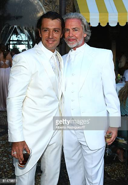 RATES Rossano Rubicondi and owner of Lambertz Hermann Buehlbecker pose during the wedding of Ivana Trump and Rossano Rubicondi at the MaraLago Club...
