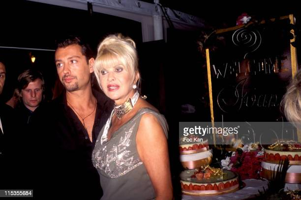 Rossano Rubicondi Ivana Trump during 2004 Cannes Film Festival Ivana Trump Birthday Party at Bao Li Restaurant in Cannes France