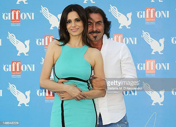 Rossella Brescia and Luciano Cannito attend 2012 Giffoni Film Festival Photocall on July 18 2012 in Giffoni Valle Piana Italy