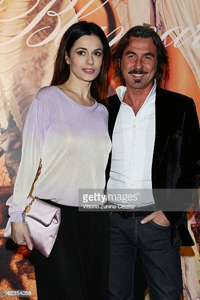 Rossella Brescia and Luciano Cannito attend the Blumarine fashion show during Milan Fashion Week Womenswear Fall/Winter 2013/14 on February 22 2013...