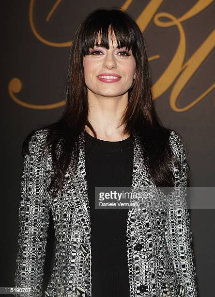 Rossella Brescia attends the Blumarine show as part of Milan Fashion Week Autumn/Winter 2008/09 on February 19 2008 in Milan Italy