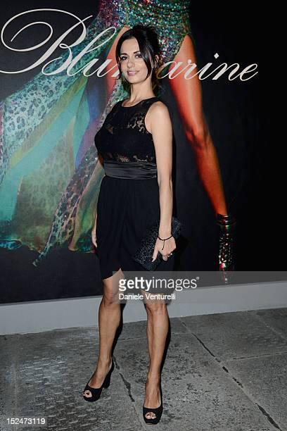Rossella Brescia attends the Blumarine Spring/Summer 2013 fashion show as part of Milan Womenswear Fashion Week on September 21 2012 in Milan Italy
